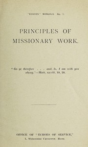 Principles of missionary work