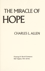 Cover of: The miracle of hope