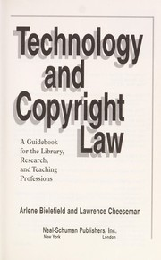 Cover of: Technology and copyright law