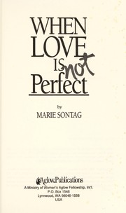 Cover of: When love is not perfect