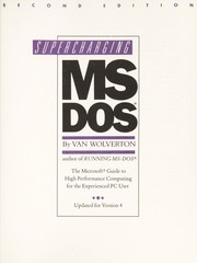 Cover of: Supercharging MS-DOS | Van Wolverton