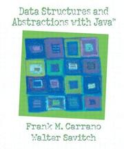 Data Structures and Abstractions with Java by Frank Carrano, Walter Savitch