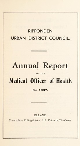 [Report 1937] by Ripponden (England) Urban District Council