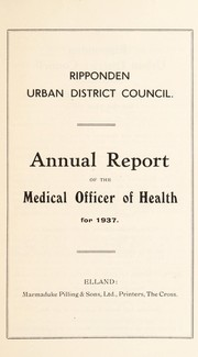 Cover of: [Report 1937] | Ripponden (England) Urban District Council