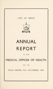 Cover of: [Report 1947] | Ripon (England). City Council