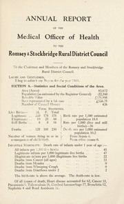 Cover of: [Report 1944] | Romsey and Stockbridge (England). Rural District Council