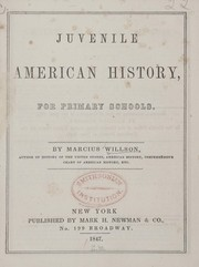Cover of: Juvenile American history, for primary schools