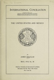 Cover of: The United States and Mexico | Douglas, James