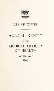Cover of: [Report 1968] | Oxford (England). City Council. no2012034102