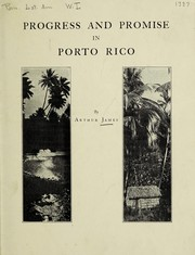Cover of: Progress and promise in Porto Rico