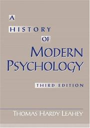 Cover of: A history of modern psychology