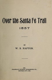 Cover of: Over the Santa Fé Trail, 1857