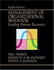 Cover of: Management of Organizational Behavior