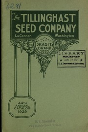 Cover of: Our 44th annual catalog, 1929 | Tillinghast Seed Co