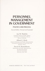 Personnel management in government by Jay M. Shafritz