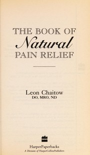 Cover of: The Book of Natural Pain Relief