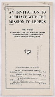 Cover of: An invitation to affiliate with the mission to lepers | American Leprosy Missions