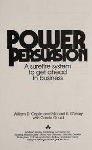 Cover of: Power persuasion