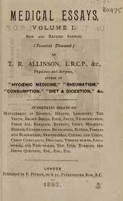 Cover of: Medical essays | T. R. Allinson