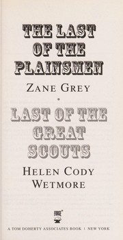 Cover of: The last of the plainsmen