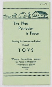 Cover of: The new patriotism is peace | Women