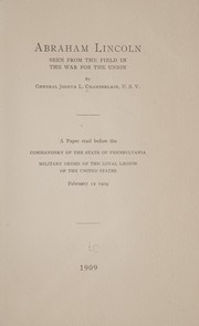 Cover of: Abraham Lincoln seen from the field in the war for the union
