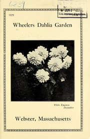 Cover of: Wheelers Dahlia Garden | Wheeler