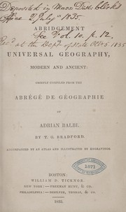 Cover of: An abridgement of universal geography