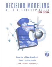 Cover of: Decision Modeling with Microsoft(R) Excel (6th Edition) | Larry R. Weatherford