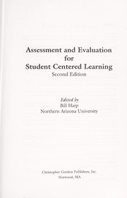 Cover of: Assessment and Evaluation for Student-Centered Learning
