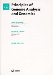 Cover of: PRINCIPLES OF GENOME ANALYSIS AND GENOMICS