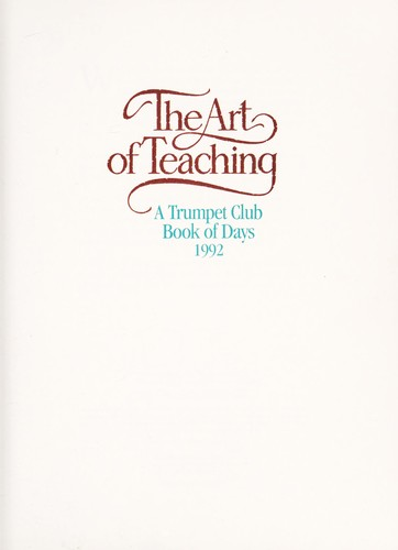 The Art of teaching by