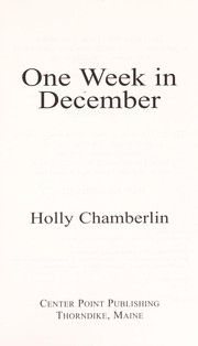 Cover of: One week in December