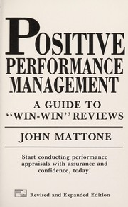 Cover of: Positive Performance Management |