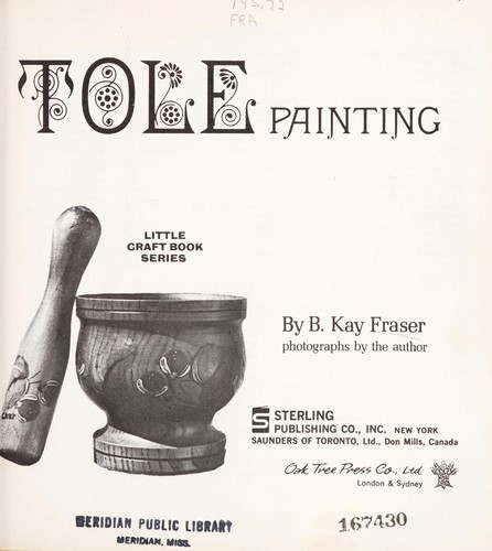 Tole painting by B. Kay Fraser