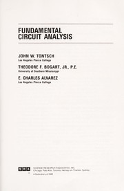 Cover of: Fundamental circuit analysis