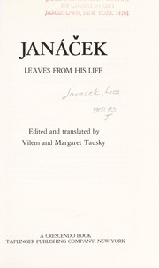 Cover of: Janáček, leaves from his life