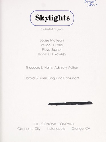 Skylights (The Keytext Program) by