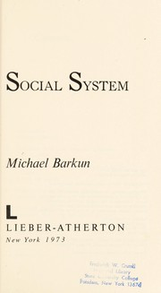 Cover of: Law and the social system