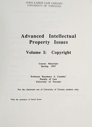 Cover of: Advanced intellectual property issues