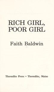 Cover of: Rich girl, poor girl