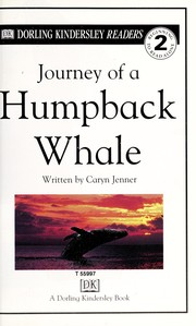 Cover of: Journey of a humpback whale