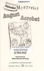 Cover of: August Acrobat