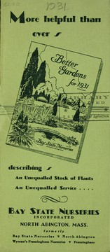 "Cover of: More helpful than ever ""Better gardens for 1931"" describing an unequalled stock of plants, an unequalled service"