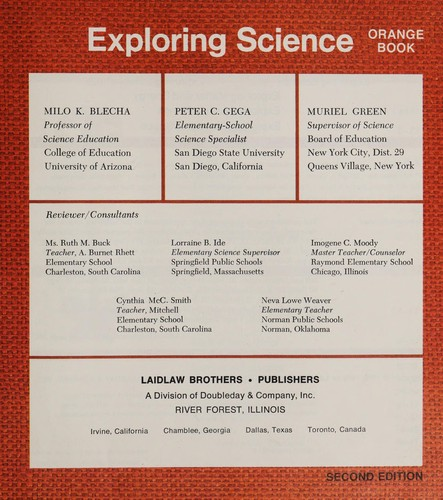 Exploring science by Milo K. Blecha