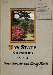 Cover of: Trees, shrubs and hardy plants