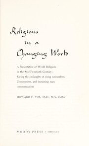 Cover of: Religions in a changing world