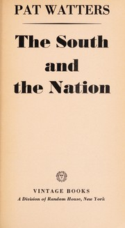 Cover of: The South and the nation. | Pat Watters