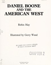 Cover of: Daniel Boone and the American West