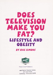 Cover of: Does television make you fat?